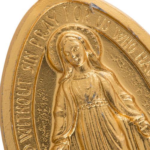 Médaille Miraculeuse aluminium doré 5cm 2