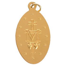 Medalha Milagrosa alumínio dourado 5 cm s2