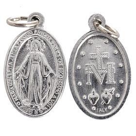 Medalik Matka Boska aluminium posrebrzany 12mm s1