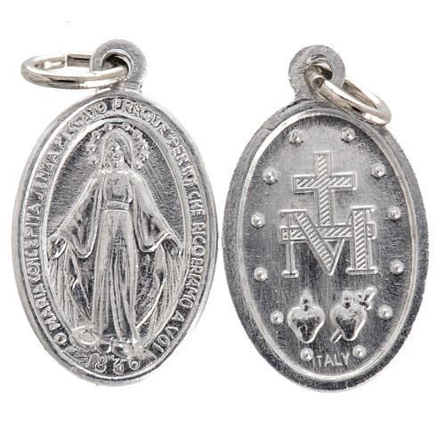 Medalik Matka Boska aluminium posrebrzany 12mm 1