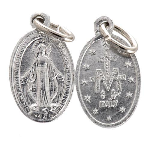 Medalla de la Virgen Milagrosa aluminio plateado 10mm 1