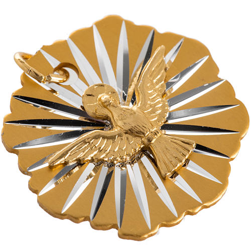 Medalla Confirmación aluminio dorado 25mm 2