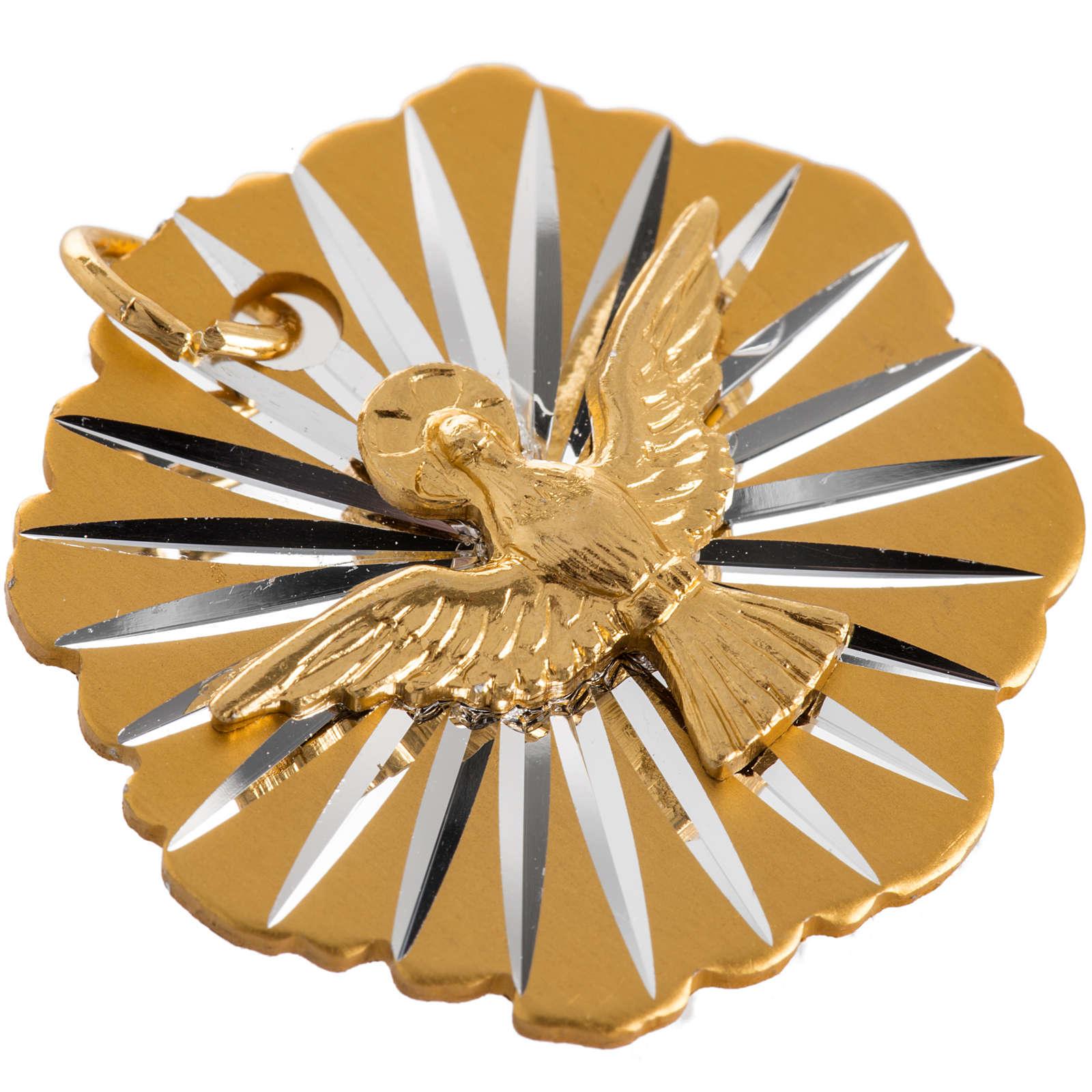 Medaglia Cresima alluminio dorato 25 mm 4