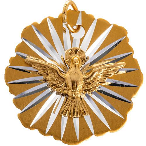 Medaglia Cresima alluminio dorato 25 mm 1