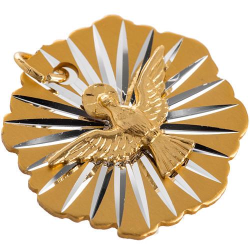 Medaglia Cresima alluminio dorato 25 mm 2