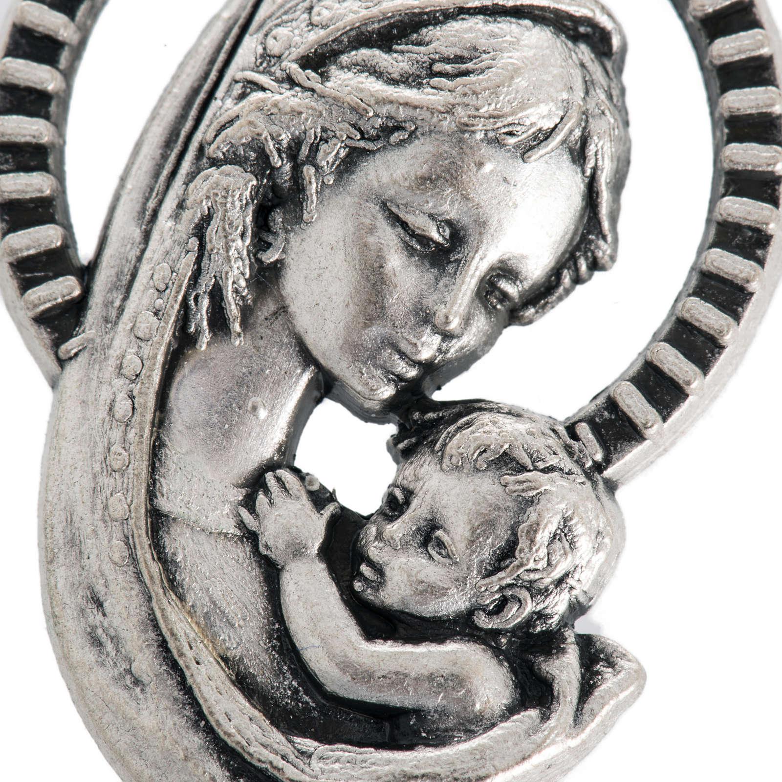 Médaille Vierge à l'enfant métal oxydé 26mm 4