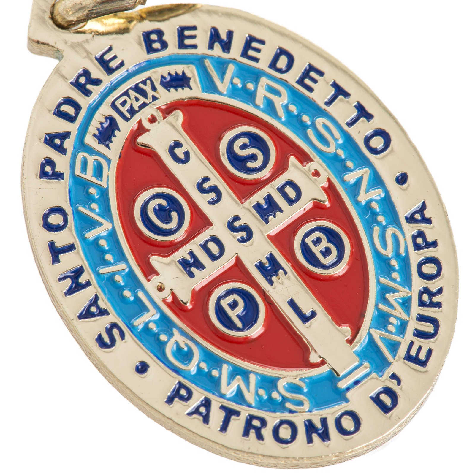 Medaglia San Benedetto ottone smaltato 26 mm 4