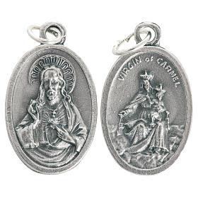 Medalla Virgen del Carmen en Metal oxidado ovalado 20mm s1