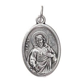 Medalla Virgen del Carmen en Metal oxidado ovalado 20mm s2