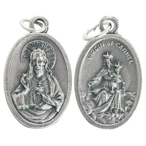 Medalla Virgen del Carmen en Metal oxidado ovalado 20mm 1