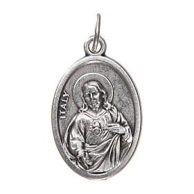 Our Lady of Mount Carmel medal, oxidised metal 20mm s2