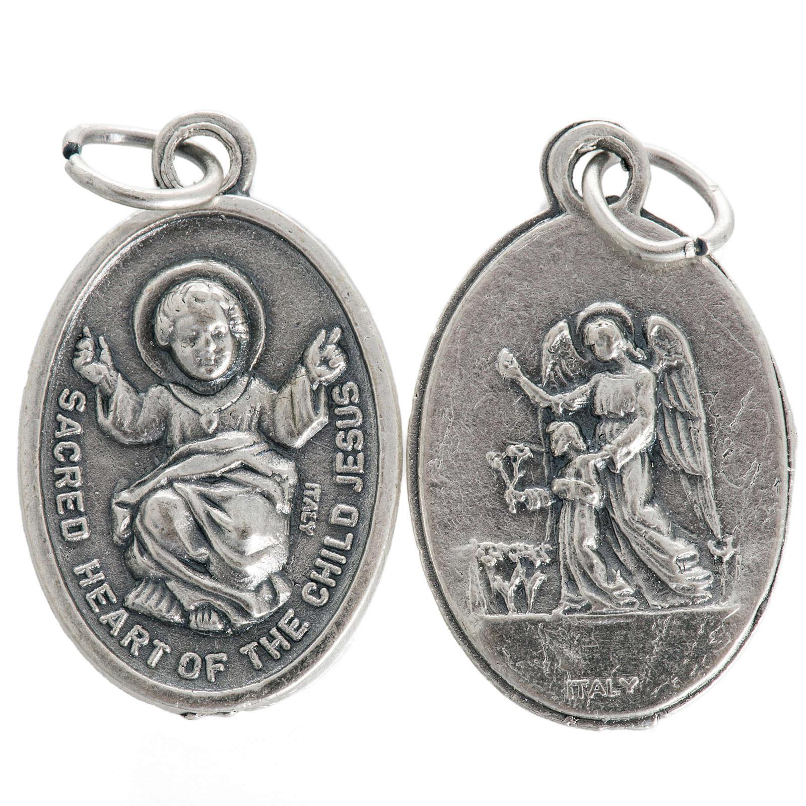 Medaglia Gesù Bambino metallo ossidato 20 mm 4