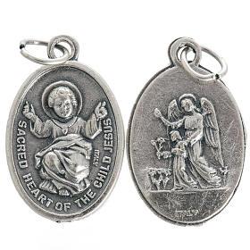 Medaglia Gesù Bambino metallo ossidato 20 mm s1