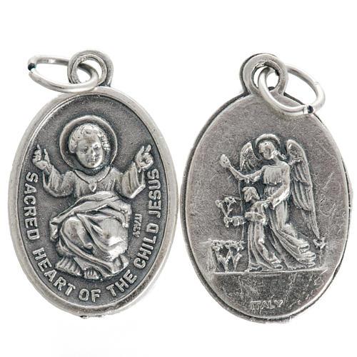 Medaglia Gesù Bambino metallo ossidato 20 mm 1