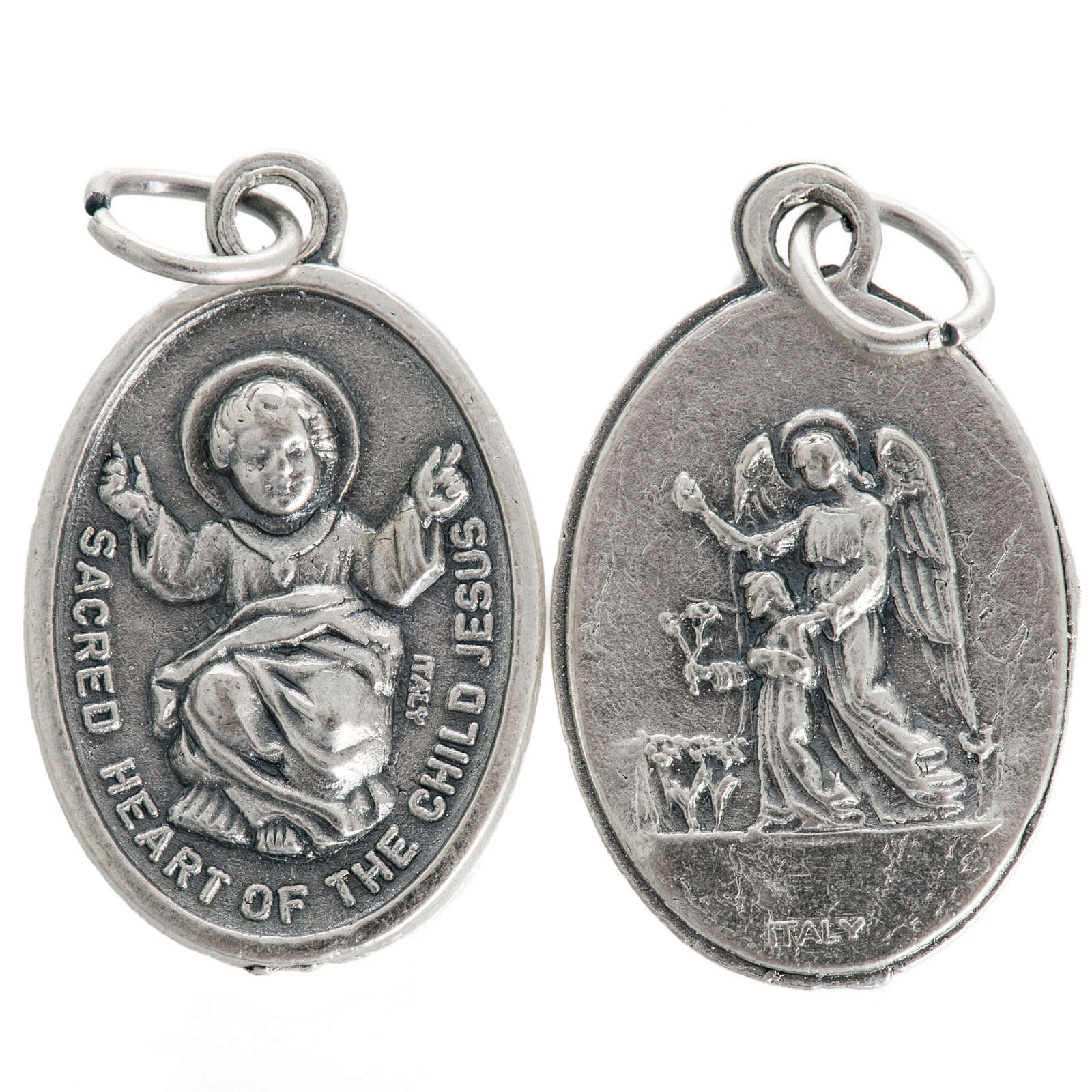 Baby Jesus medal, oxidised metal 20mm 4