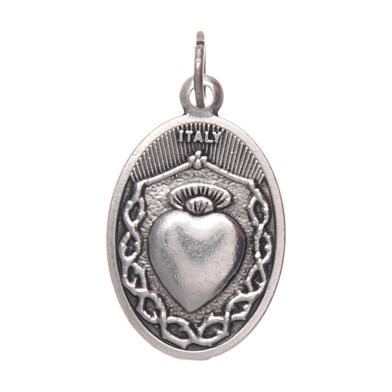 Medalla de Niño Jesús de Praga en metal ovalada 20 4