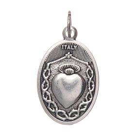Médaille Jésus enfant de Prague ovale métal s2