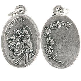 Medaglia devozionale Sant'Antonio ovale metallo 20 mm s1