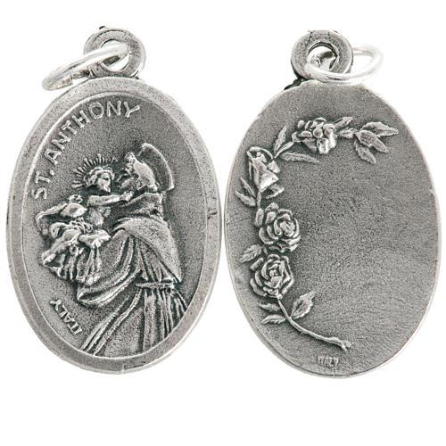 Medaglia devozionale Sant'Antonio ovale metallo 20 mm 1