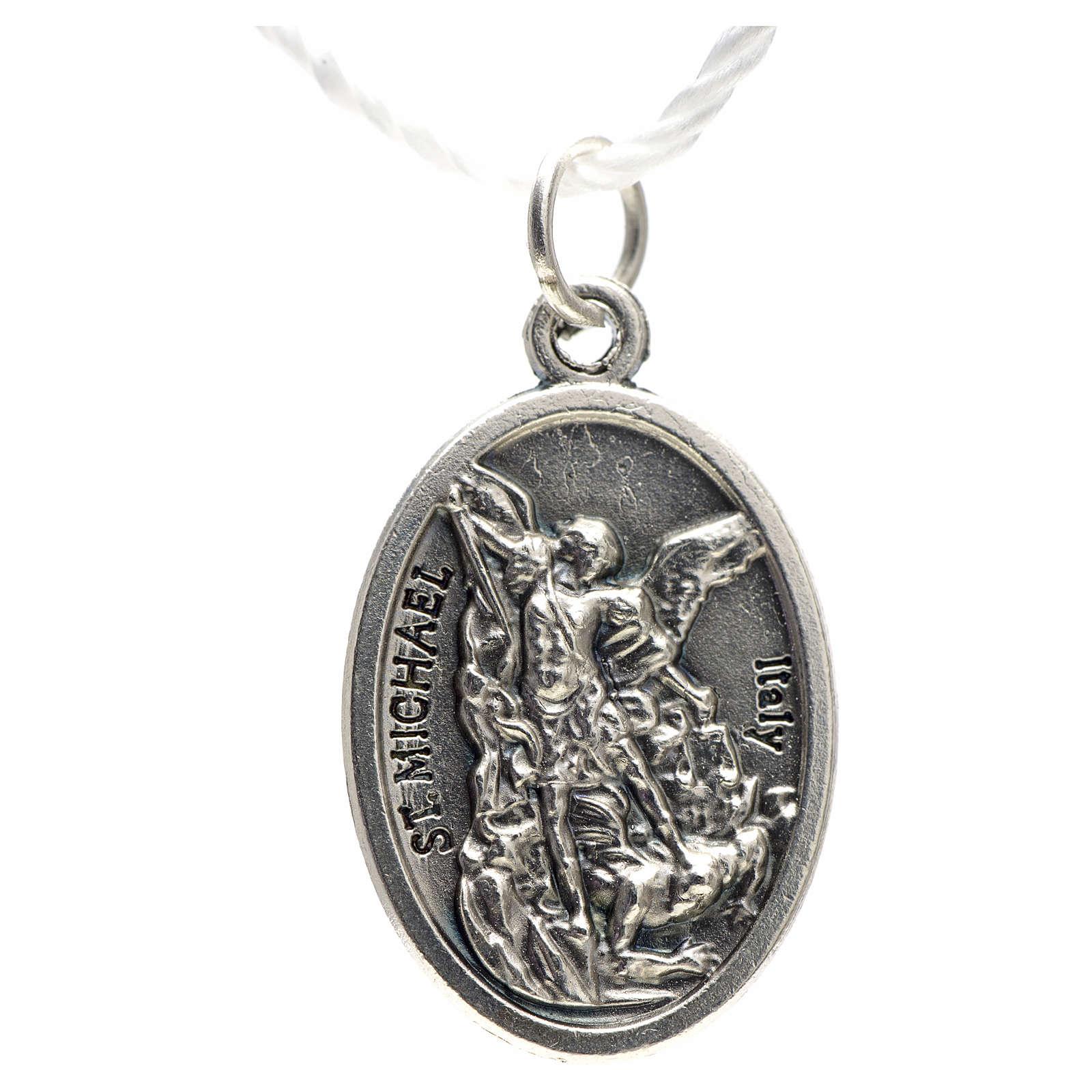 Medaglia devozionale San Michele metallo ossidato 20 mm 4