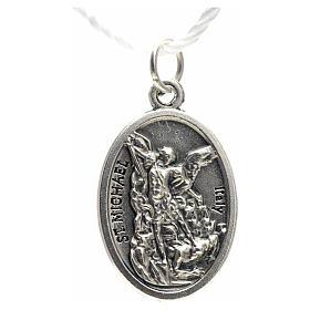 Medaglia devozionale San Michele metallo ossidato 20 mm s2