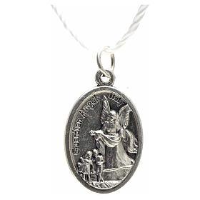 Medaglia devozionale San Michele metallo ossidato 20 mm s3