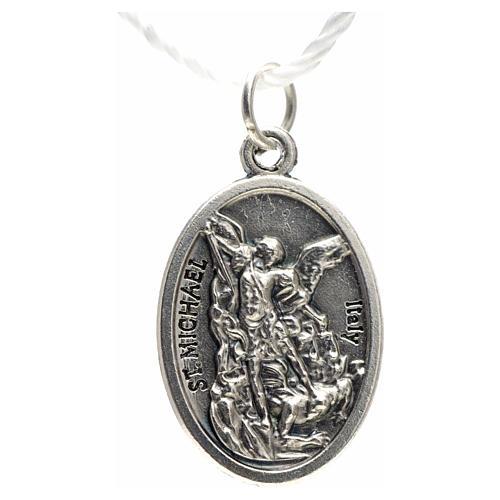 Medaglia devozionale San Michele metallo ossidato 20 mm 2