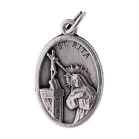 Médaille Sainte Rita métal oxydé 20mm s1