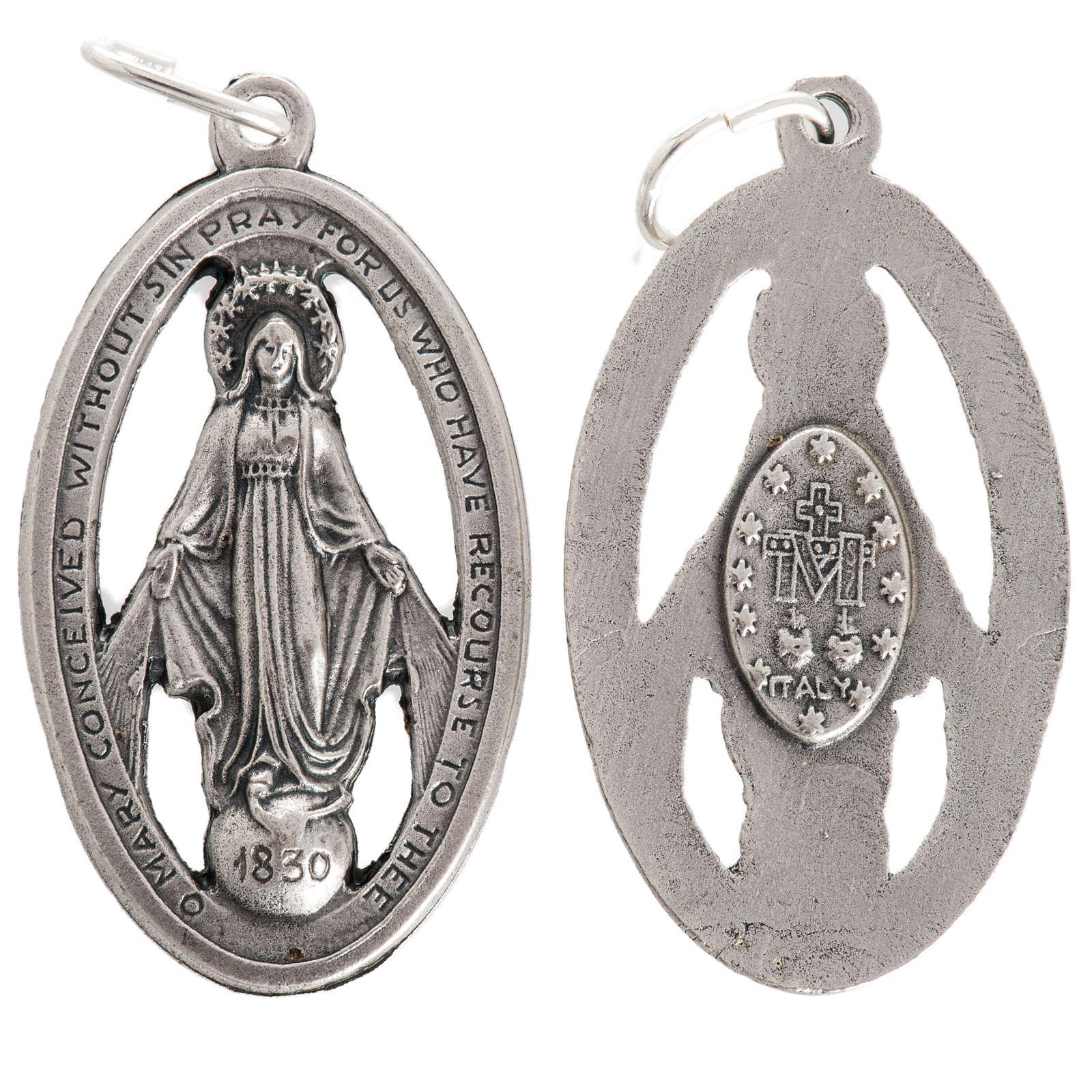 Medalla de la Milagrosa perforada en metal oxidado 32mm 4