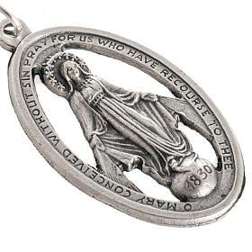 Medalla de la Milagrosa perforada en metal oxidado 32mm s2