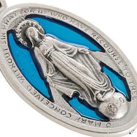 Medaglia Miracolosa traforata smaltata metallo ossidato 32 mm s2