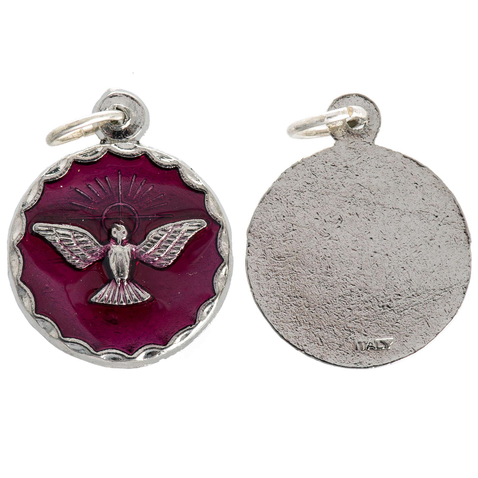 Medalla confirmación Espíritu Santo esmalto 18mm 4