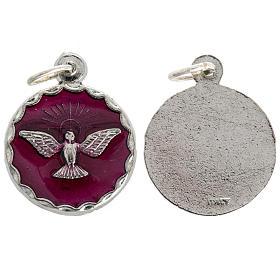 Medalla confirmación Espíritu Santo esmalto 18mm s1
