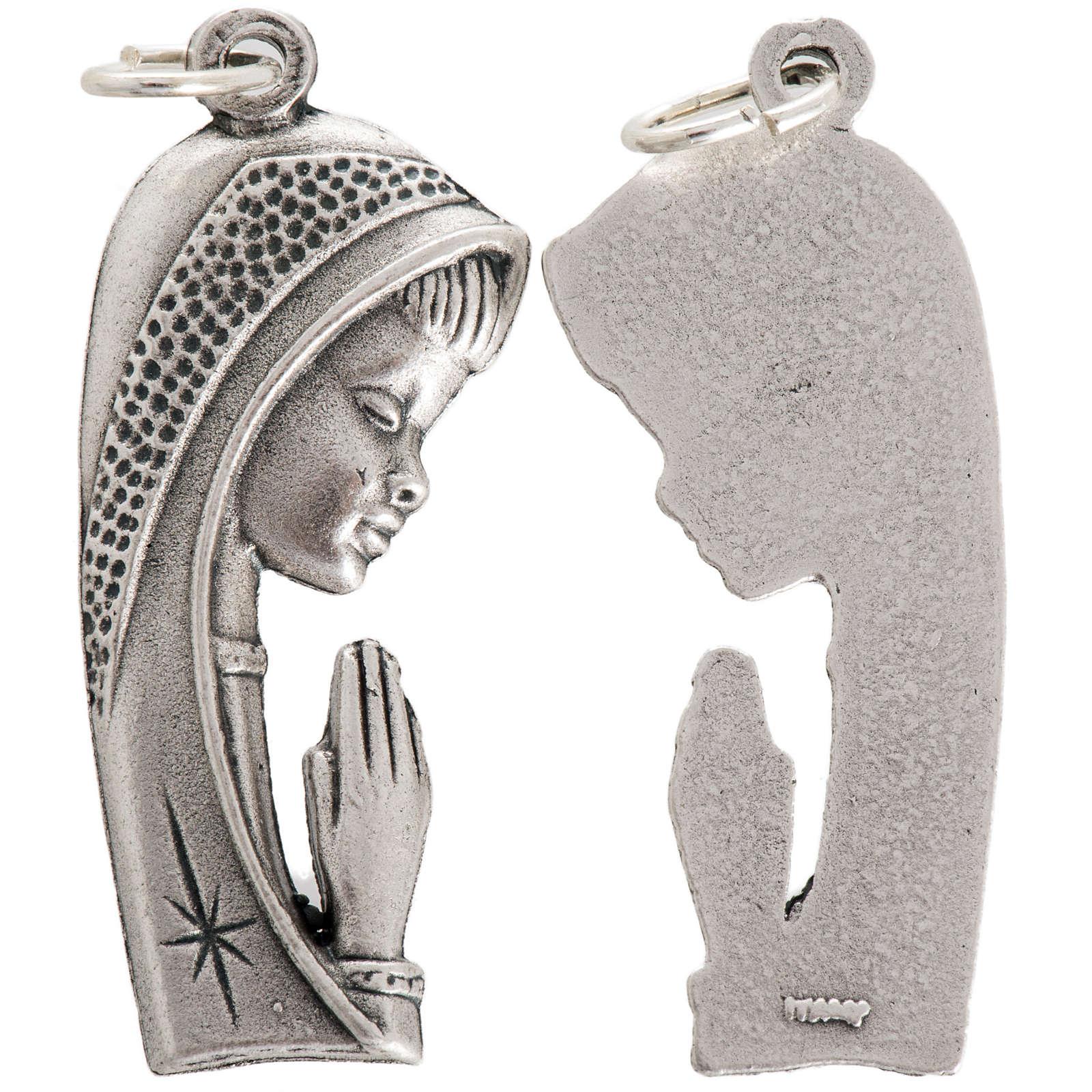 Médaille Notre Dame profil métal oxydé 40mm 4