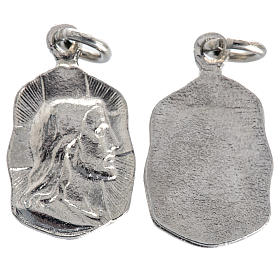 Medals: Face of Christ medal in silver metal 19mm