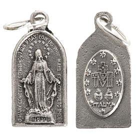 Medalla en metal oxidado de la Milagrosa 20mm s1