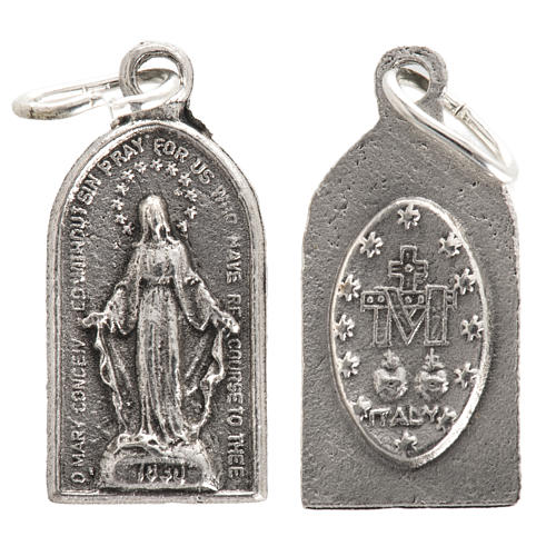 Miraculous Medal in oxidised steel 20mm 1