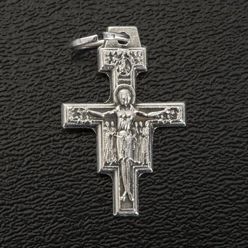 Croce pendente San Damiano metallo argentato h 2 cm 2