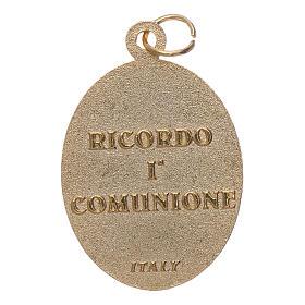 Medaglia metallo Ricordo Prima Comunione s2
