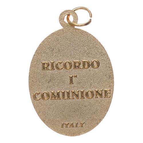 Medaglia metallo Ricordo Prima Comunione 2