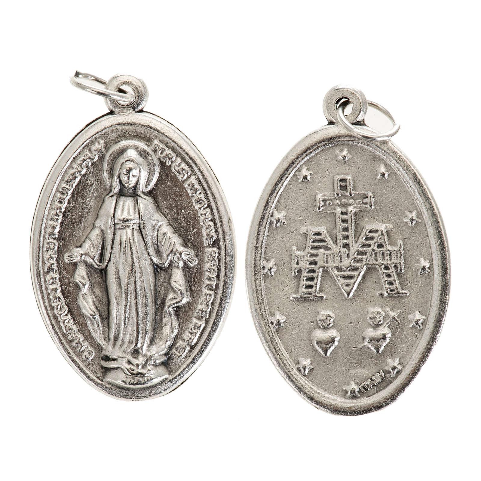 Médaille Miraculeuse ovale métal 3 cm 4