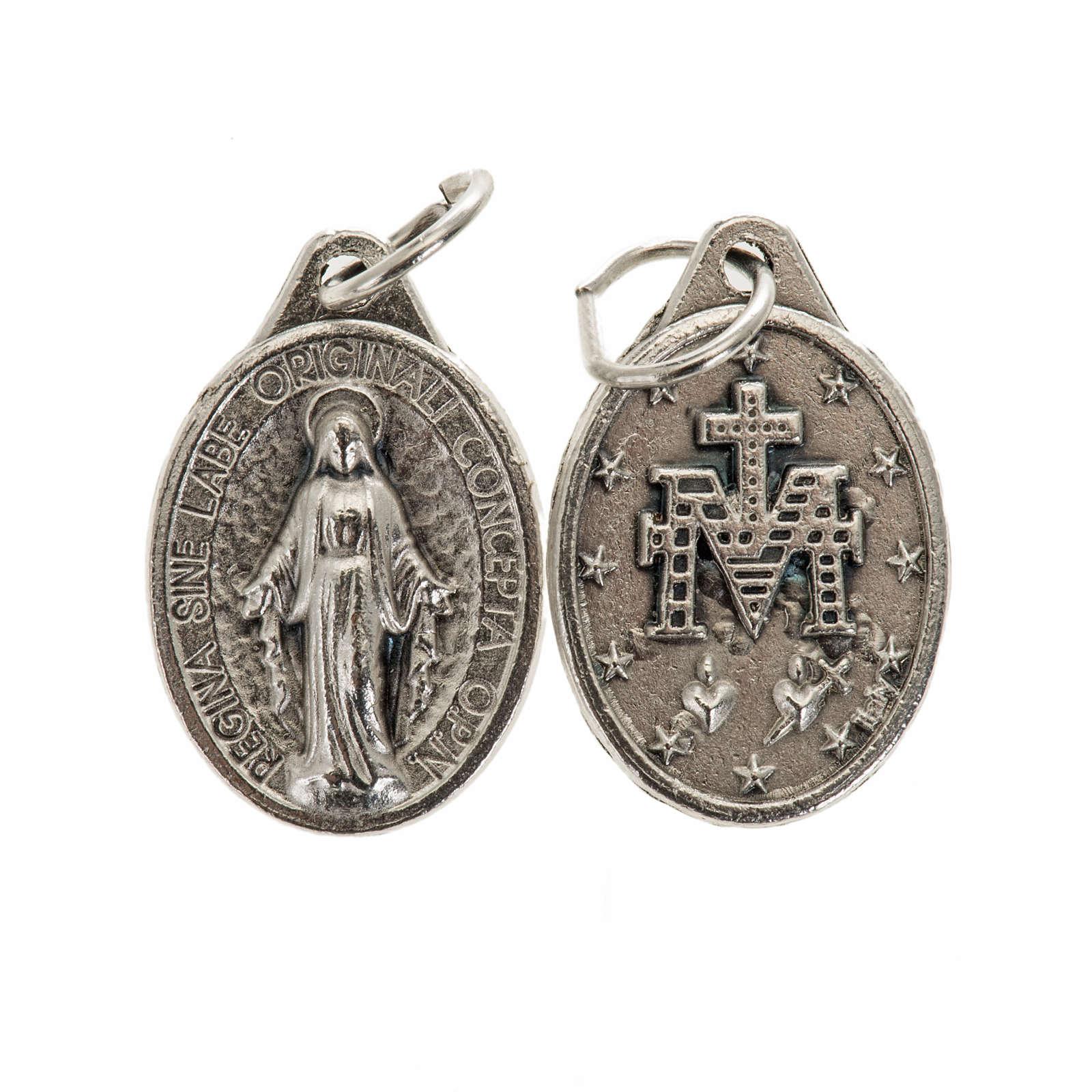 Médaille Miraculeuse ovale métal argenté 17 4