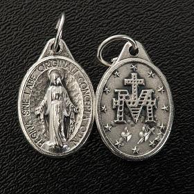 Medaglia Miracolosa ovale metallo argentato h 17 mm