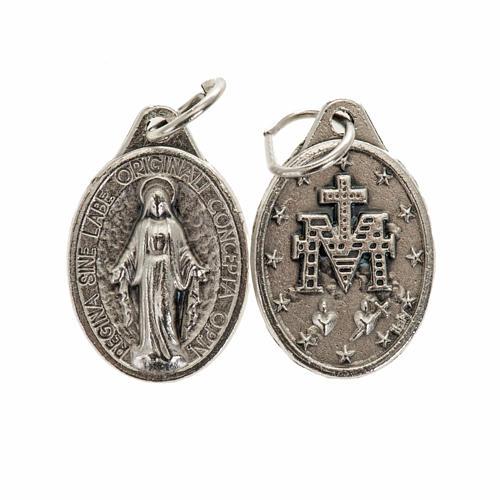 Medalha Milagrosa oval metal prateado h 17 mm 1