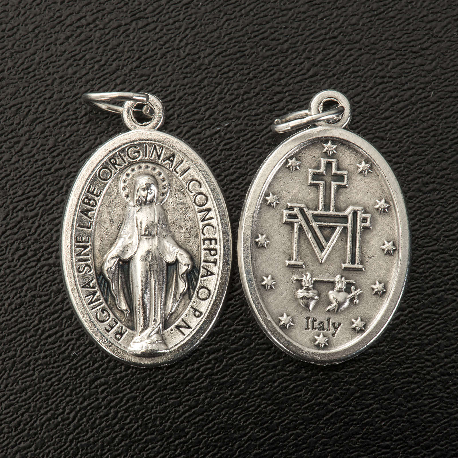 Miraculous Medal, oval in silver metal H21mm 4