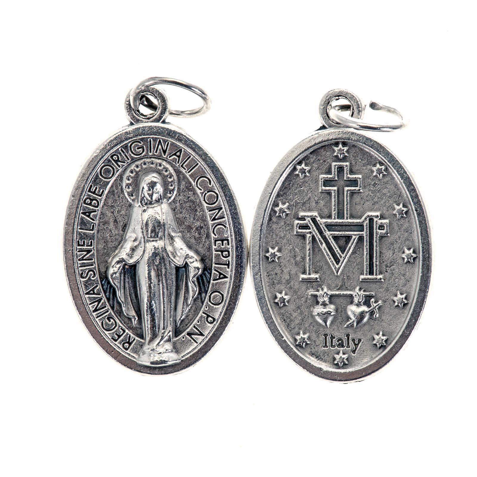 Medalla Milagrosa ovalado metal plateado 21mm 4