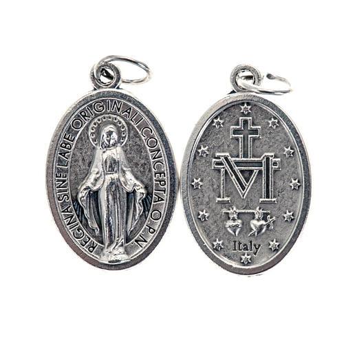 Medalla Milagrosa ovalado metal plateado 21mm 1