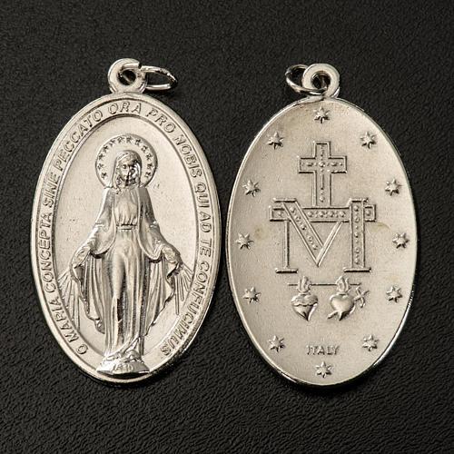 Medalha Milagrosa oval metal prateado h 40 mm 2