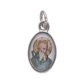 Medals: Saint Benedict medal in nickel plated metal H1.5cm