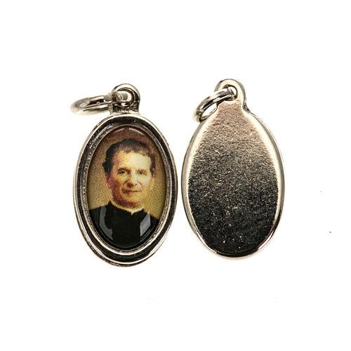 Médaille Don Bosco métal nickelé 1.5 cm 1